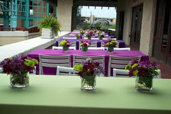 wedding florist minnesota quad cities purple mauve