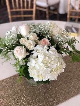 wedding centerpiece minnesota white classic