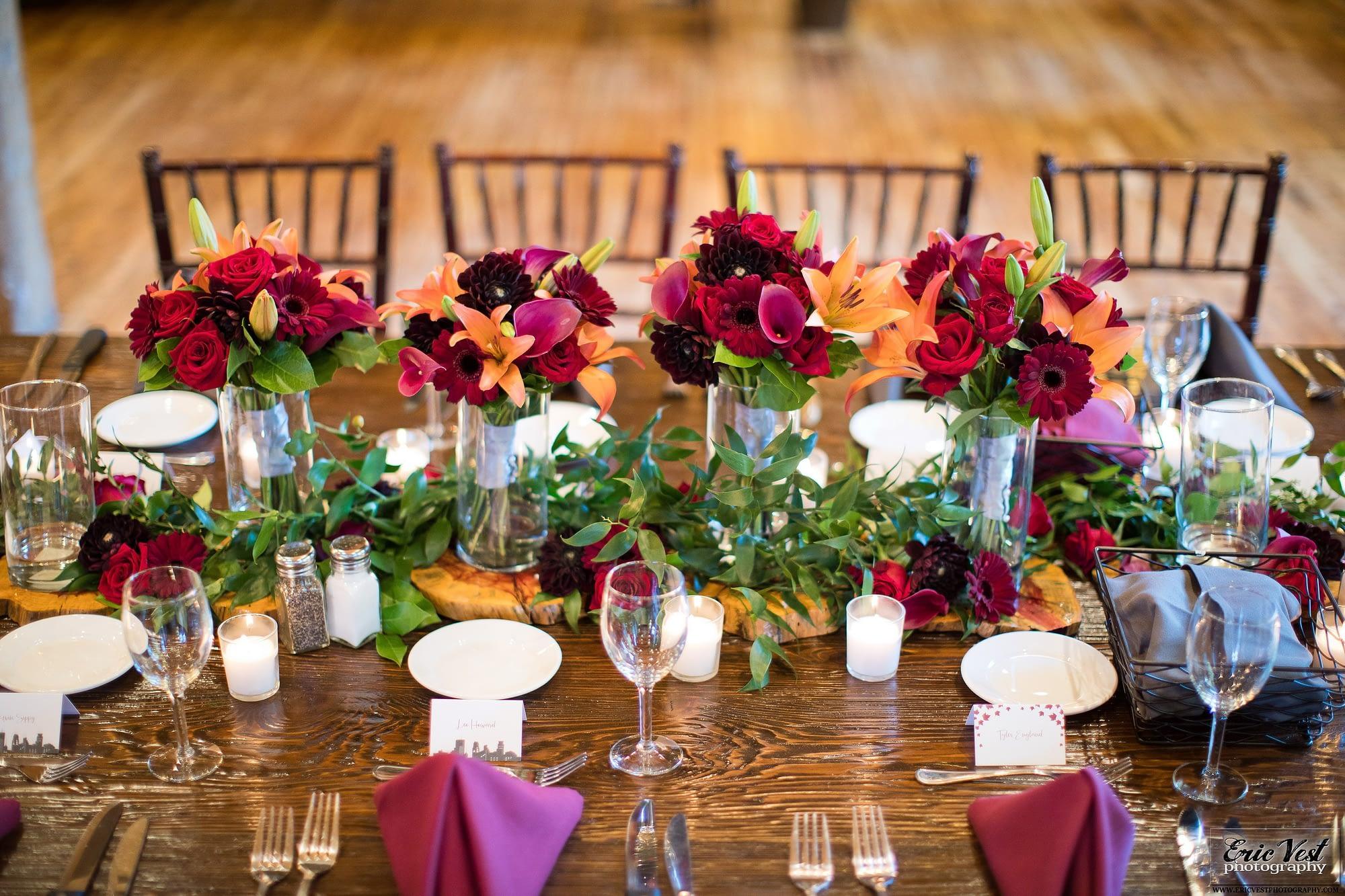 minneapolis event center autumn wedding table decor inspiration