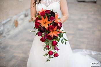 Eric Vest Photography- minneapolis event center autumn wedding bouquet lilies