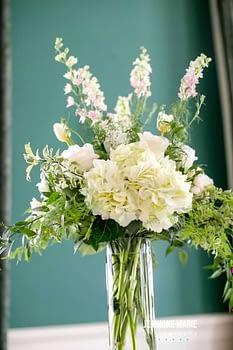 wedding centerpiece minnesota white spring