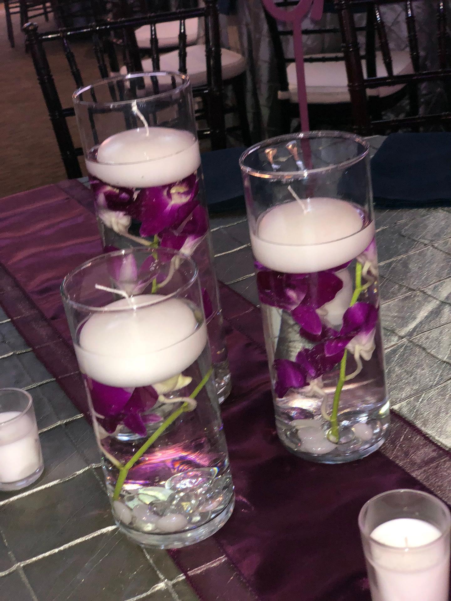 minneapolis event center reception purple pink green wedding flowers