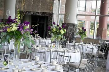 wedding florist minnesota quad cities purple white