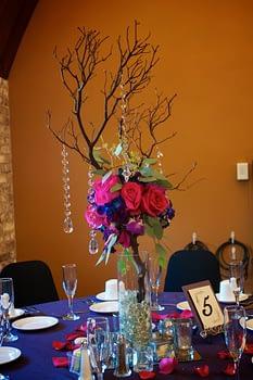 wedding centerpiece florist minnesota with jewels