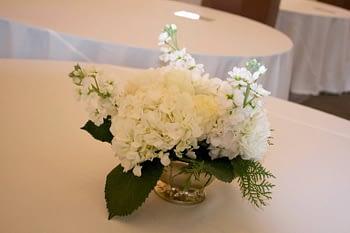 wedding centerpiece minnesota hydrangea