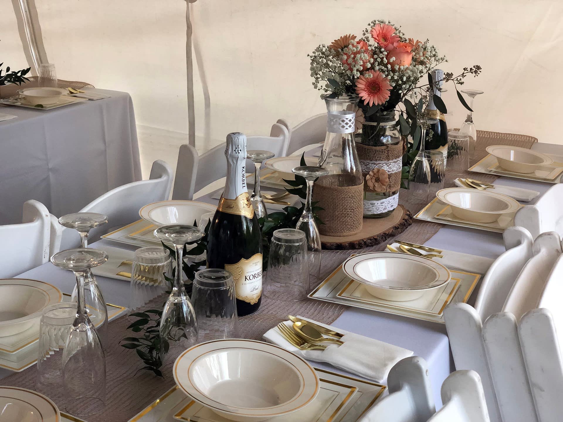 maple grove private home wedding reception table inspiration