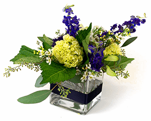 wedding centerpiece minnesota purple green feature