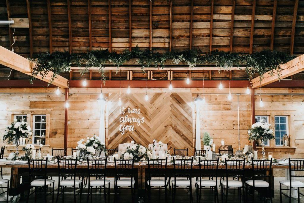 john furber farm cottage grove wedding table decor inspiration