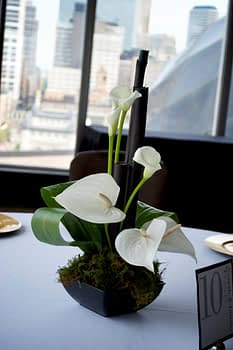 wedding centerpiece florist minnesota calla