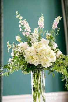 wedding centerpiece minnesota white spring