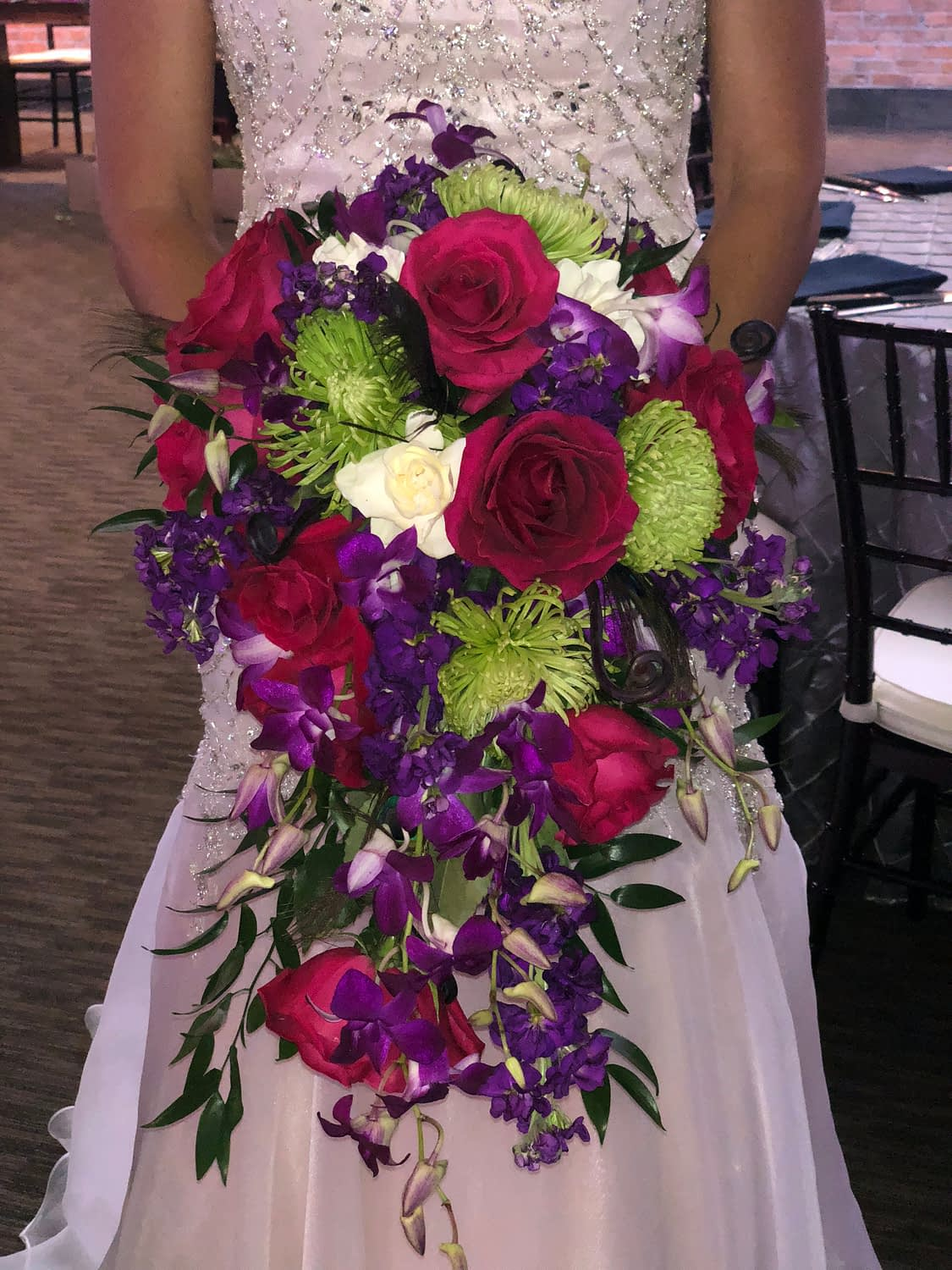minneapolis event center wedding bridal bouquet