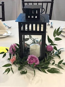 wedding centerpiece florist minnesota roses lantern