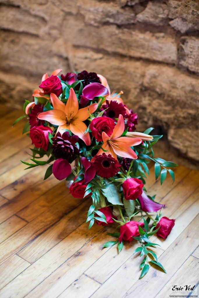 minneapolis event center autumn wedding bridal bouquet