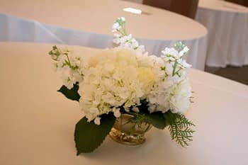 wedding centerpiece minnesota hydrangea