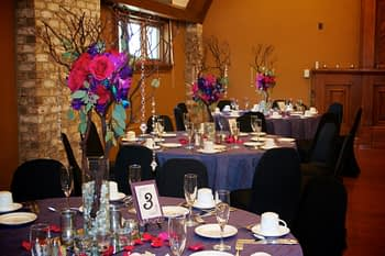 wedding centerpiece florist minnesota purple pink palette