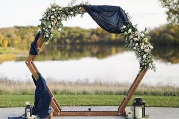 Vick Photography Royal Golf Club Bridal Bouquet autumn Flowers wedding arch